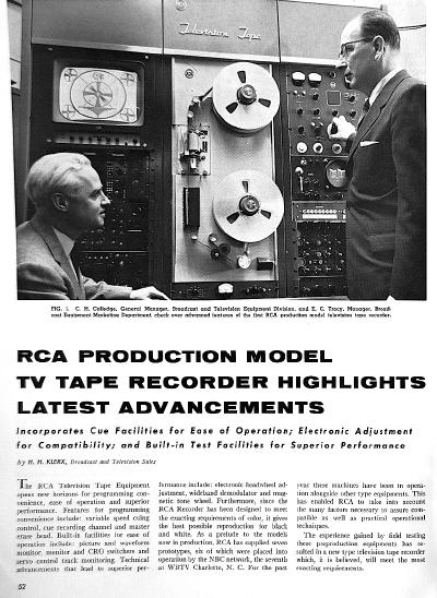 RCA Production Recorders