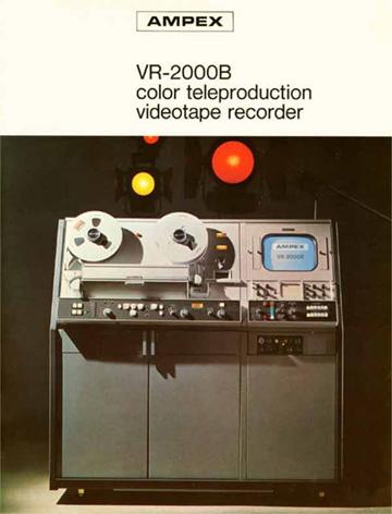 Ampex VR-2000B brochure
